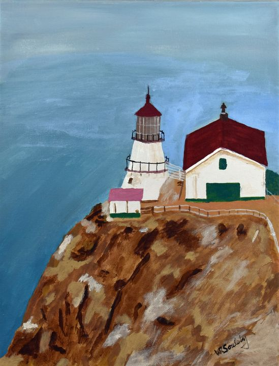 Point Reyes Lighthouse - Paintings By William R Soulsby