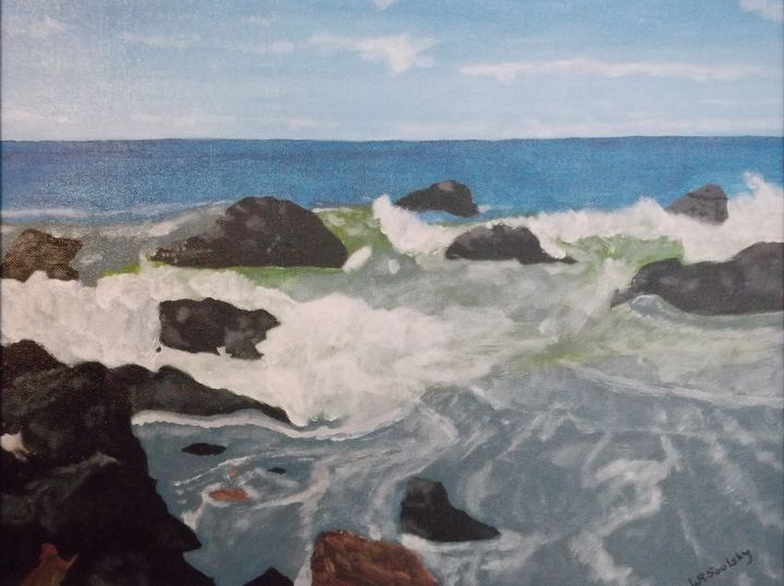 Rocks And Waves - Paintings By William R Soulsby