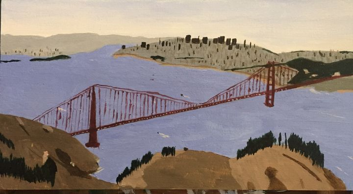 San Francisco Bay and Bridge - Paintings By William R Soulsby