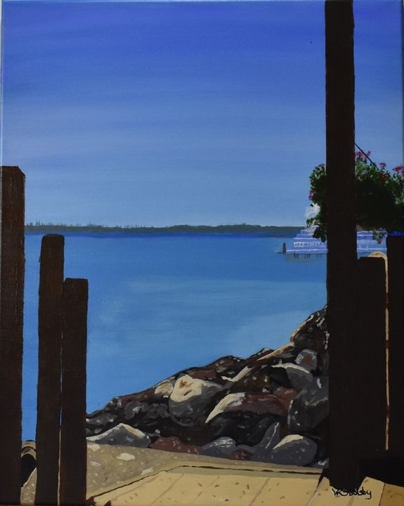San Francisco From Sausalito - Paintings By William R Soulsby