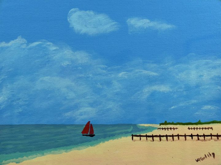 Day at the Beach - Paintings By William R Soulsby