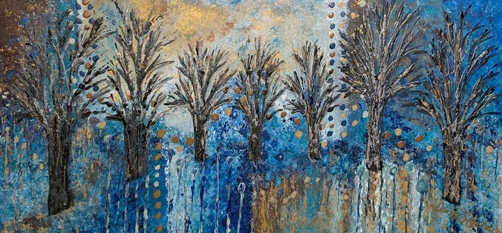 Black trees with abstract background - Celeste Sigala