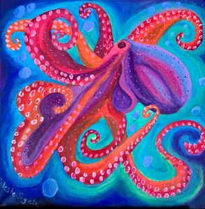 Colorful octopus