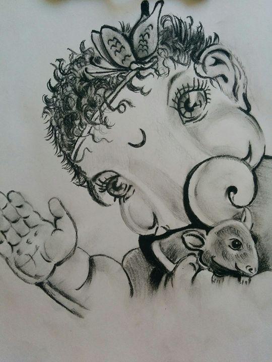 Baal Ganesh Sketch - Nirmal