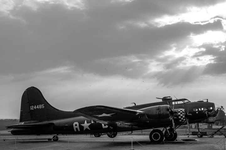 Breaking Clouds over Sally B - Through the lens
