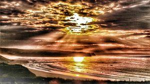 Over edited sunset