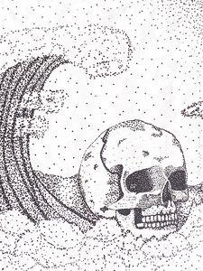 Skull in the waves