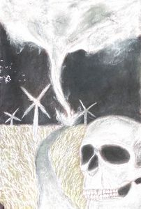 Skull at night