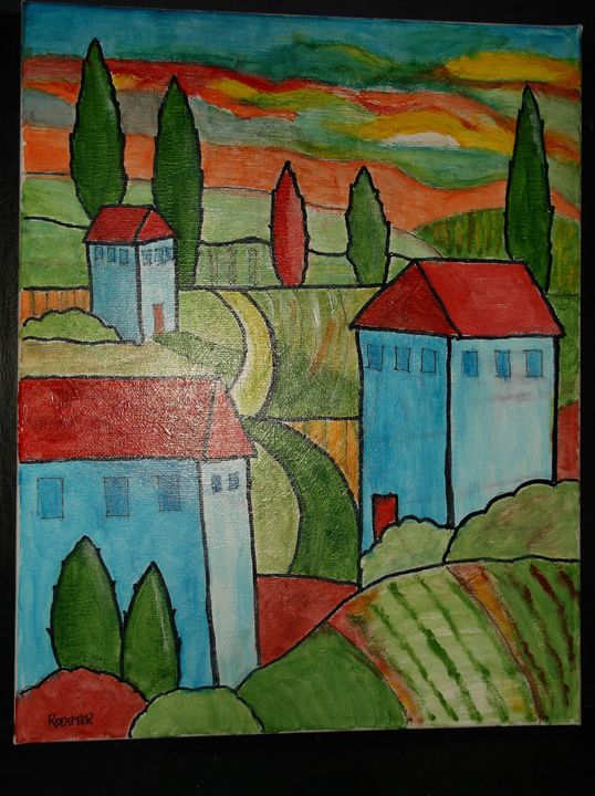 Italian Landscape - Rodster Art