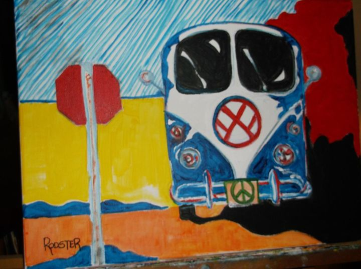 60's Bus - Rodster Art