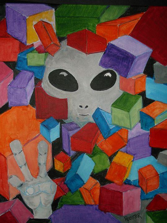 Peace Alien No. 5 - Rodster Art
