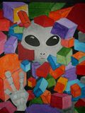 11X14 Acrylic canvas Original