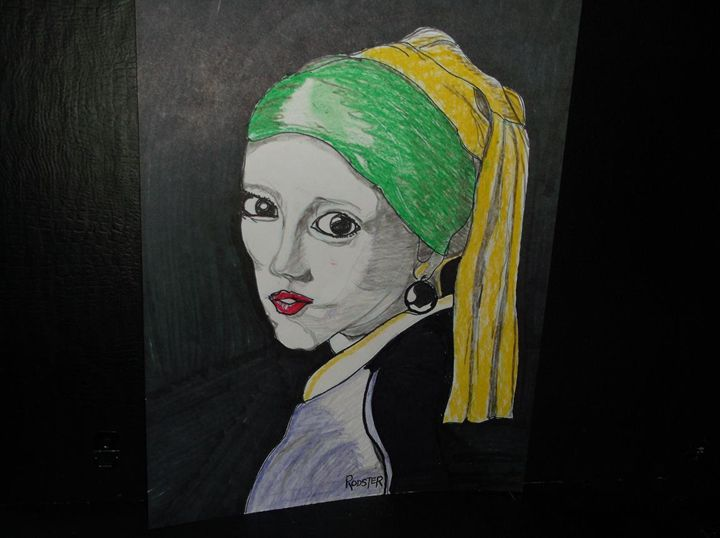 Girl with Black Pearl Earring - Rodster Art