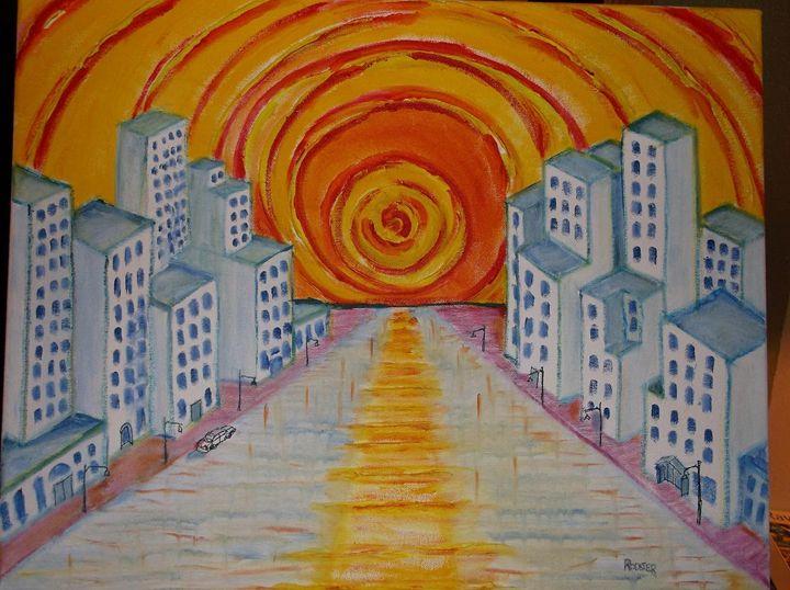 Ball of Fire City - Rodster Art