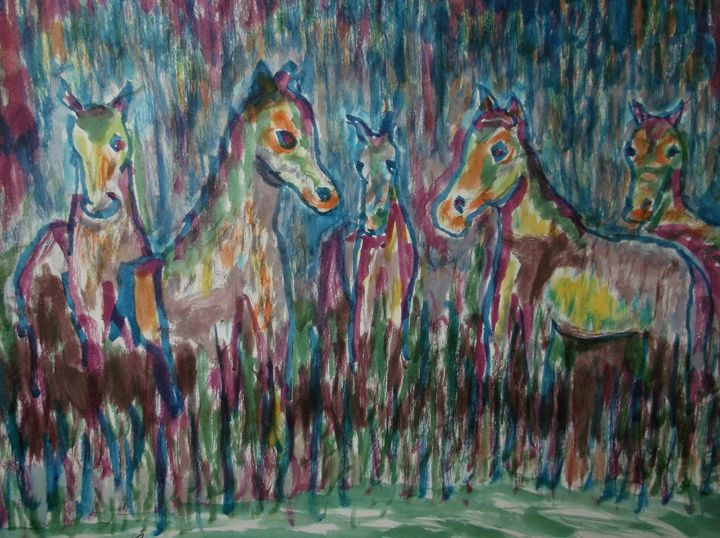 Abstract Horses - Rodster Art