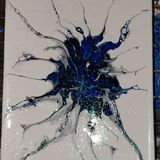Acrylic pour Painting abstract