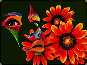 painted Orange Flower