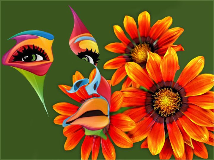 Face With Flowers - Barbee's Photography