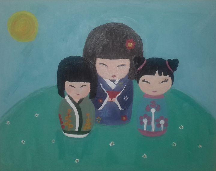 Japanese Dolls - Phoebe Mae Artworks