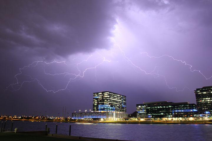 Lightning over Tempe Town Lake - BCAR