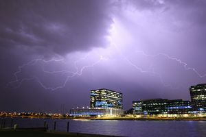 Lightning over Tempe Town Lake