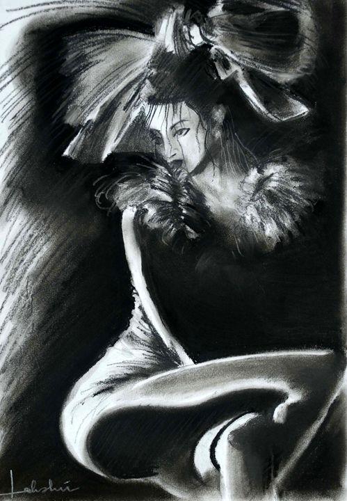 Lady in Charcoal - Lakshmi's Art