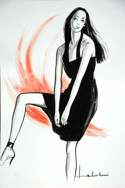 Lady in Black - Lakshmi's Art