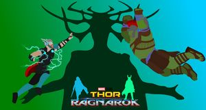 Thor Ragnarok Minimalist Poster