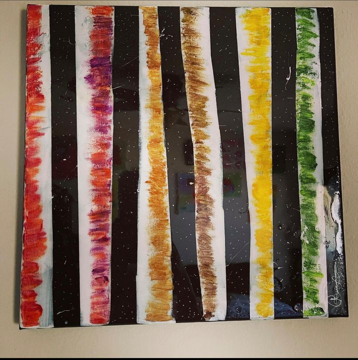 Birch trees canvas painting - renuartscollections