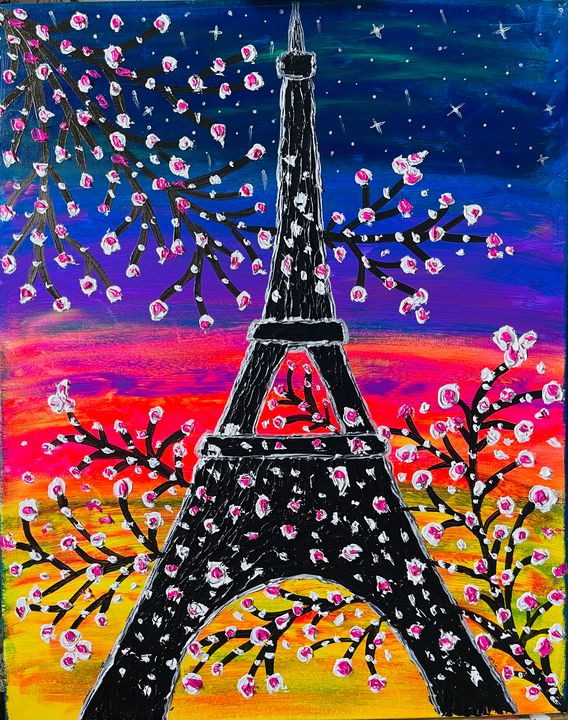 Eiffel tower canvas painting - renuartscollections