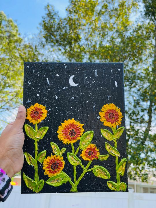 Sunflower canvas painting - renuartscollections