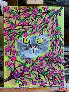 Kitty canvas painting