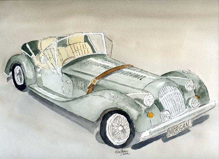 Morgan Sports Car - Eva Asons Art