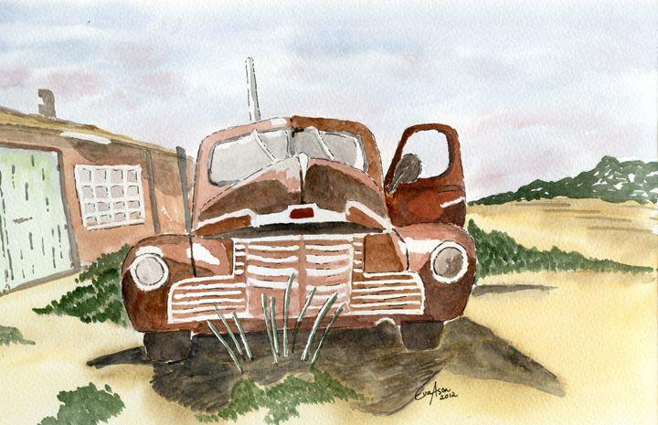 Old Rusty Truch - Eva Asons Art