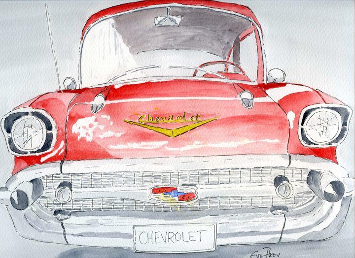 Chevrolet - Red - Eva Asons Art