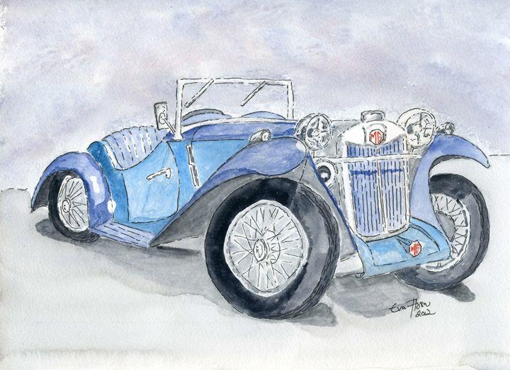 MG sports car - Eva Asons Art