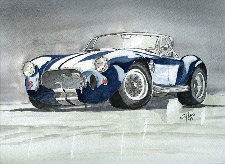 Shelby Cobra - sports car - Eva Asons Art