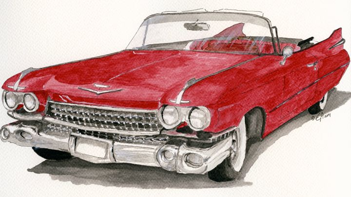 Cadillac 1959 - Eva Asons Art