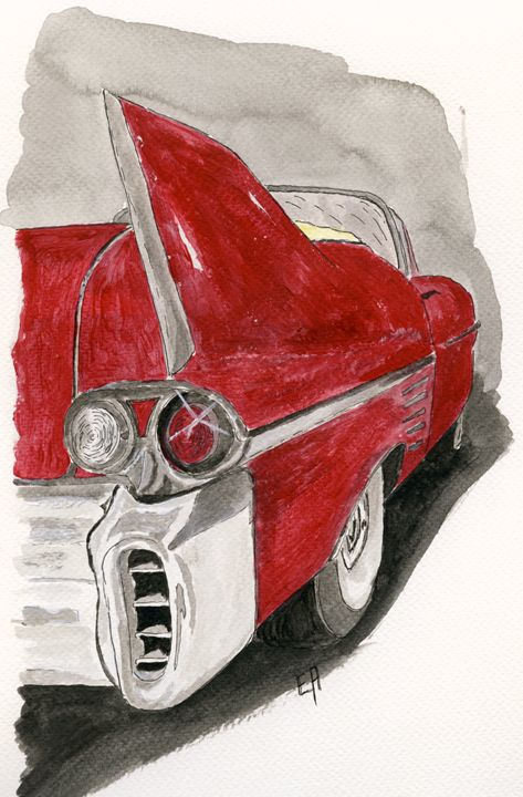 Cadillac 1959 - rear - Eva Asons Art
