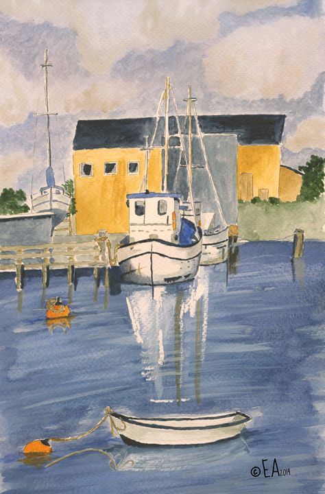 Fishing Boats - Eva Asons Art