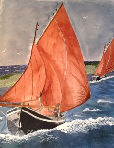 Galway Hooker - sail boat