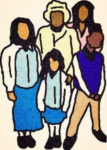 Familia Después De La Iglesia