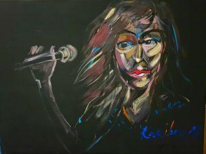 Woman Zahra abstract portrait popArt