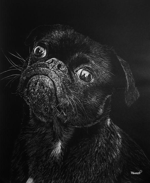 Cute Pug Furbaby - Furbaby Art