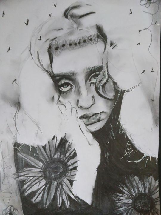 (in progress) Self Portrait - Bohemian Artist