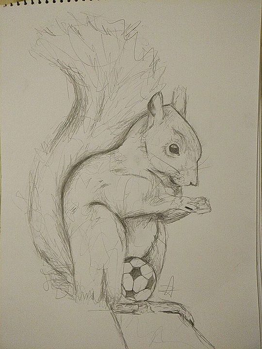 Squirrel - Bohemian Artist
