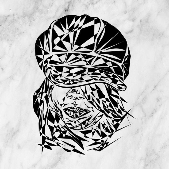 Incognito... (Black and White) - VernGuard Artistry