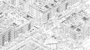 NYC Street Axonometry - Broqueta