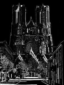 CATHEDRALE DE REIMS façade OUEST - Henri DUMONT