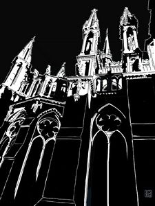 CATHEDRALE DE REIMS PINACLES
